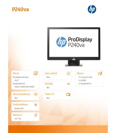 HP Inc. 23,8' ProDisplay P240va  Monitor N3H14AA