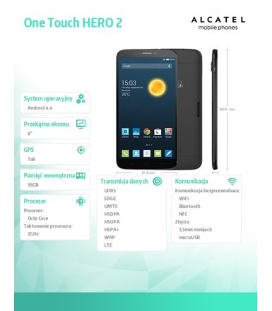 Alcatel  ONE TOUCH HERO 2 GREY