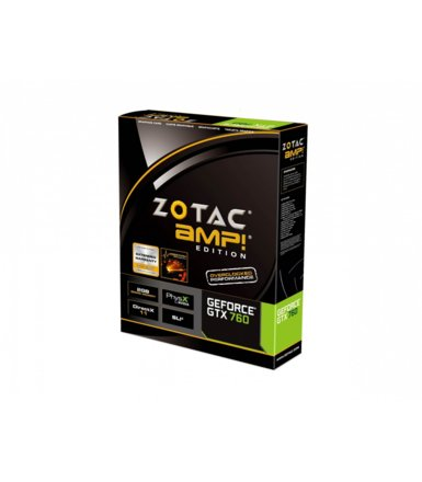 ZOTAC GeForce CUDA GTX760 AMP! 2GB DDR5 PCI-E 256BIT 2DV/HDMI/DP PP