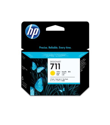 HP Tusz 711 29ml Yellow 3-Pack CZ136A