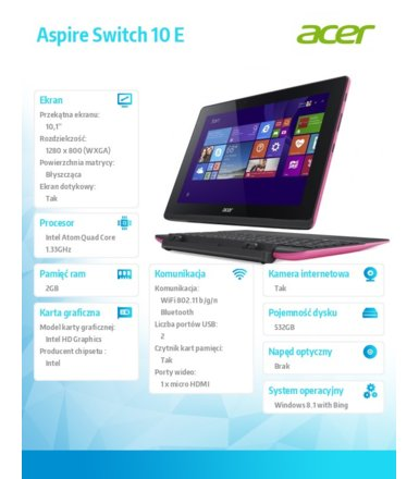 Acer Switch SW3-013-190K (NT.G21EP.001)