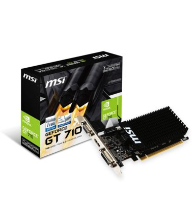 MSI GeForce CUDA GT710 1GB DDR3 64BIT DVI/D-SUB/HDMI