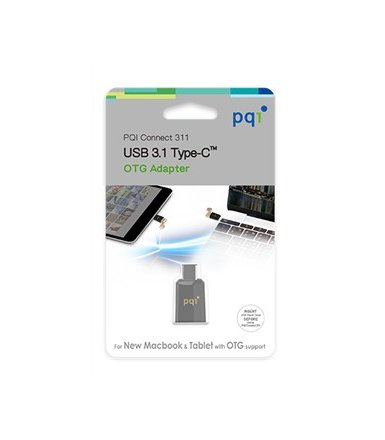 PQI Adapter USB-USB Typ-C UFD, Connect 311 Czarny