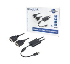 LogiLink Adapter USB 2.0 do 2x port szeregowy