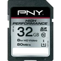 PNY SDHC 32GB HIGH PERFO: 80MB/s SD32G10HIGPER80-EF
