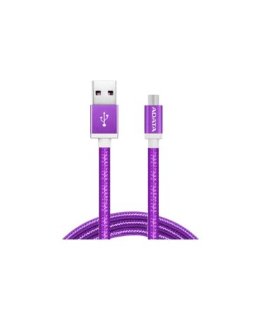 Adata Kabel USB-microUSB 1m Purple alu-knit