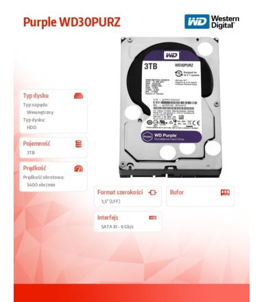 Western Digital Purple WD30PURZ 3TB 64MB  3,5'' 5400rpm
