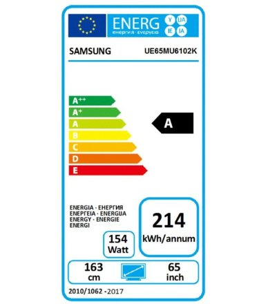 "Samsung 65"" TV LED UHD UE65MU6102KXXH"
