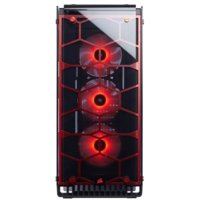 Corsair Crystal Series 570X RGB Compact ATX Tempered Glass, Compact ATX Mid-Tower / Red