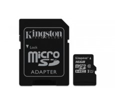 Kingston microSD  16GB Class10 Canvas Select 80/10MB/s adapter