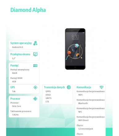 Archos Smartfon Diamond Alpha 5,2 4GB/64GB