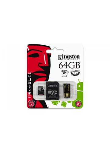 Kingston microSD 64GB + czytnik USB class 10